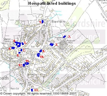 Horspath's listed buildings